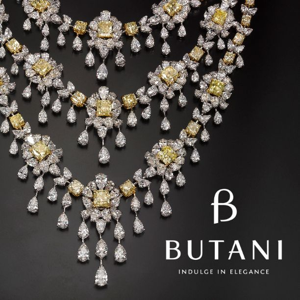 Drape in diamonds and indulge in Royal Elegance #Butani #ButaniJewellery #Diamonds #JewelleryArabia