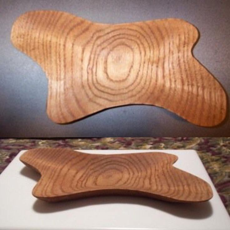 A retro/googie/midcentury modern (mcm) inspired candy dish that was hand carved from Red Oak by Eric McGrew.