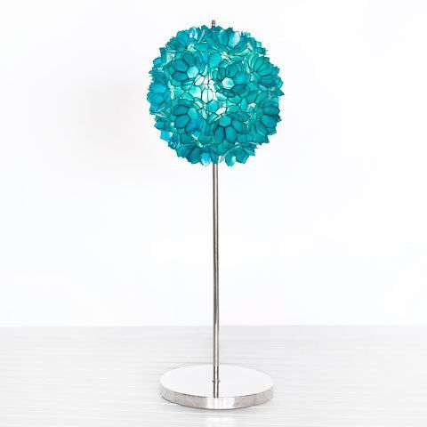 Turquoise Flower Table Lamp