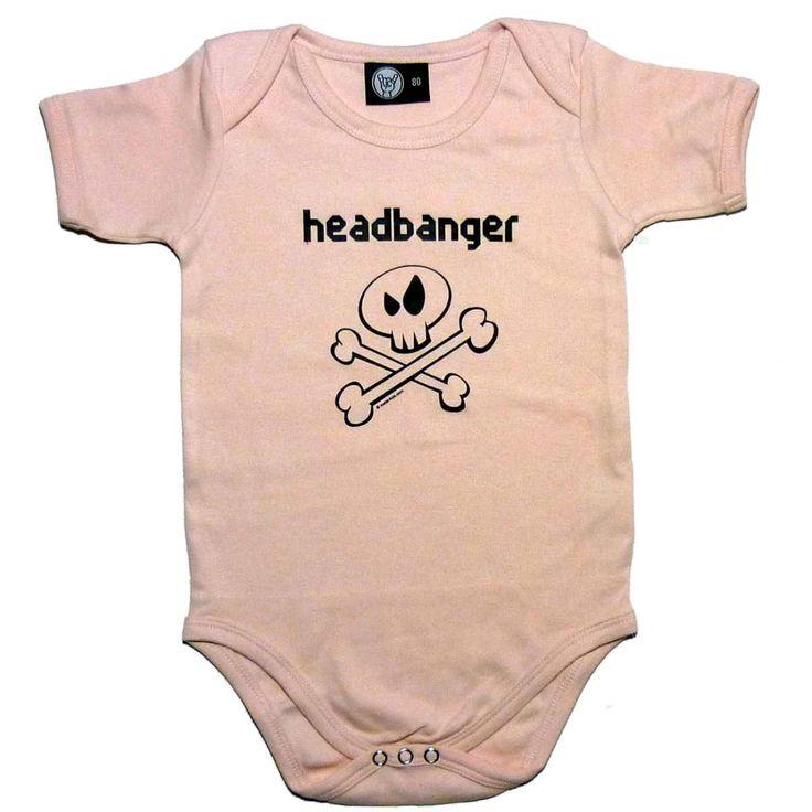 Headbanger Baby Bodysuit (choice of 4 colours)
