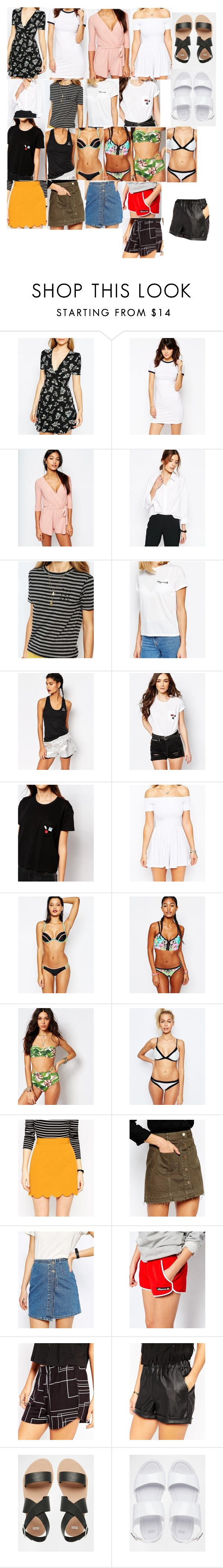 """""""ASOS Spring/Summer Potentials"""" by fivesecondsofinspiration ❤ liked on Polyvore featuring ASOS, VILA, Billabong, Daisy Street, Reebok, Pull&Bear, River Island, The Bikini Lab and ellesse"""