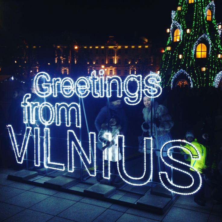 City lights #christmaslights #vilnius