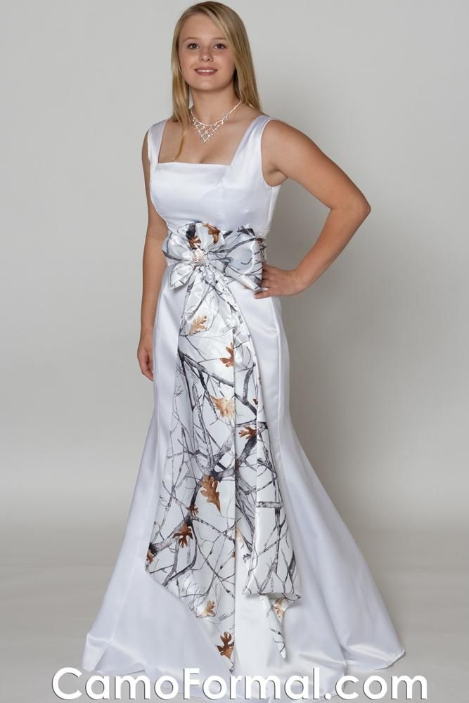 wedding dress in camoflauge
