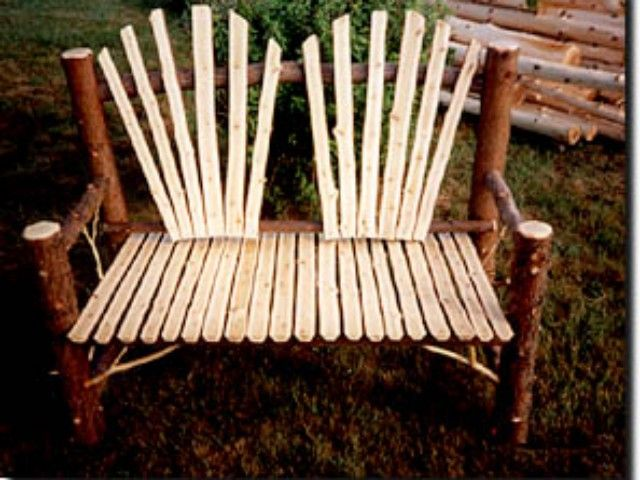 Adirondack Trading Post for Custom Adirondack Furniture. Adirondack Twig Furnishings. Ornate Adirondack style twig work by William and Elaine Betrus
