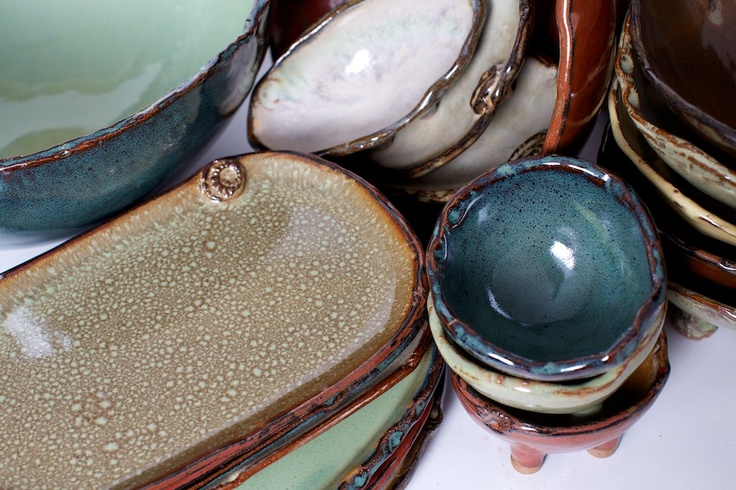 Pottery by www.earthbornpottery.net dishwasher, oven and microwave safe!