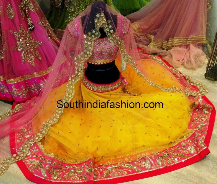 anushree reddy half sarees and lehengas