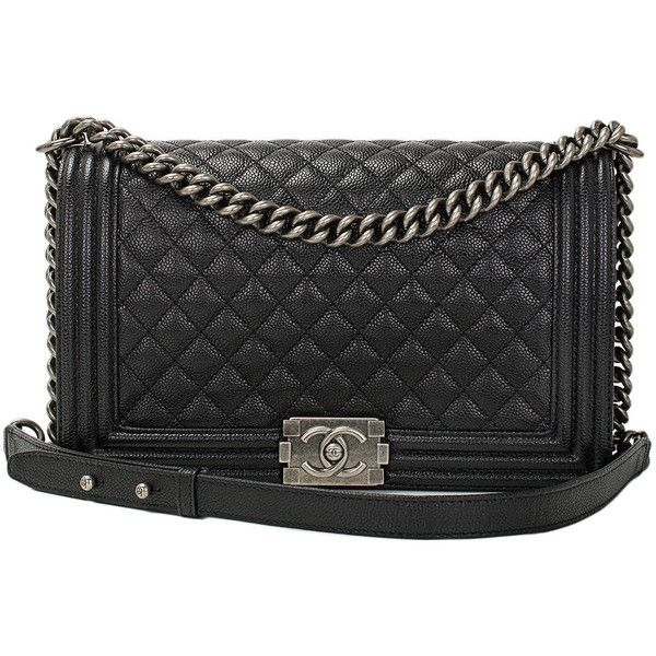 Chanel Black Caviar New Medium Boy Bag (21.525 BRL) ❤ liked on Polyvore featuring bags, handbags, chanel, purses, bolsas, handbags and purses, man bag, hand bags, purse bag and handbags purses