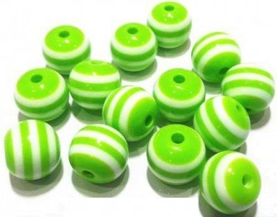 Pärla+ljusgrön,+randig+8mm