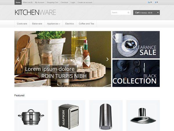 Kitchenware OpenCart Theme