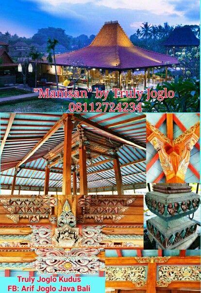 "Joglo restaurant ""Manisan"" of Alaya Ubud Pendopo Joglo Ukir soko 25cm. Bahan jati recycled grade A. Ukuran 19 meter X 17 meter. Tumpangsari ukir. Umpak/ Sendi piala asli utuh kayu jati. Karya Truly Joglo Kudus.  Info & Inquiry: Whatsapp: 08112724234 (Indonesian) Whatsapp: +628112724234 (foreign customers) Facebook: Arif Joglo Java Bali email: Truly.Arifsuryanto@Gmail.com"