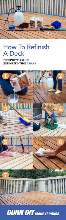 There are some simple strategies to give your old deck new life. This step-by-step guide to deck refinishing is the perfect companion for a weekend DIY project. Strip, clean, brighten, and stain your way to outdoor entertaining dreams!