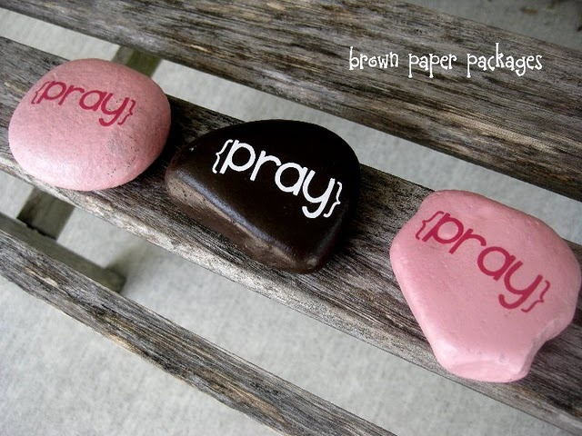 prayer rock placed on their pillow during the day, so they will be reminded to pray at night, then at night, it goes on the floor, so they'll step on it when they wake up and remember to pray.  I really love this idea, and I always have.