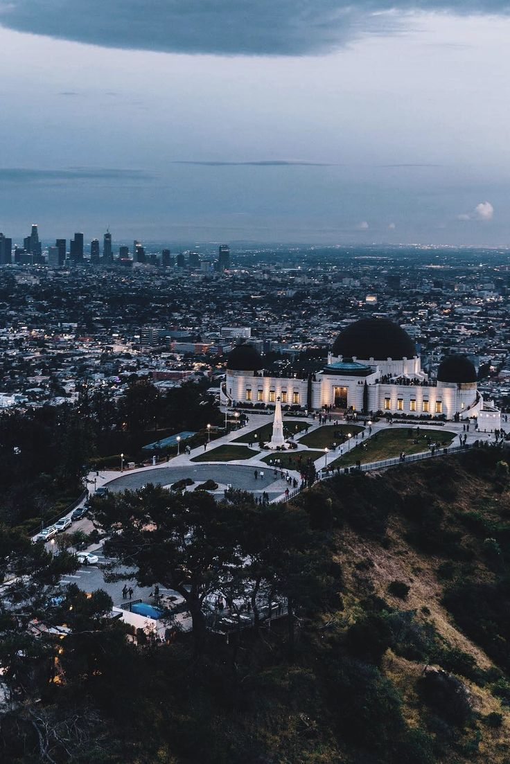 Griffith Observatory overlooking Los Angeles, California