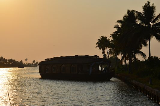"""Alleppey Backwaters!!! Alleppey """"Venice of East"""" famous in houseboat cruises.  Tourist from outside Kerala really excited about these backwater cruises because of its beauty. The houseboat trip offers a chance to touch the soul of rural villages of Kerala."""