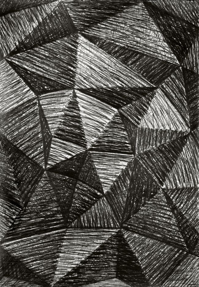 Janina Wierusz-Kowalska, Pyramid, pencil on paper, 100 x 70 cm, 2011