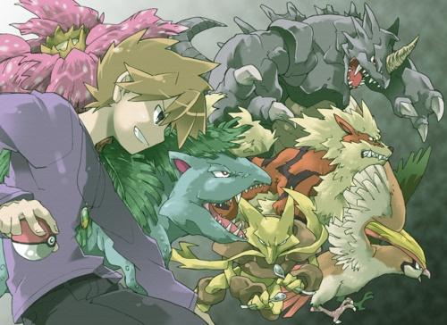 Image result for pokemon trainer green team