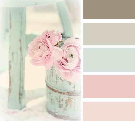Pellmell Créations: Planche d'inspiration pour une chambre rose poudrée