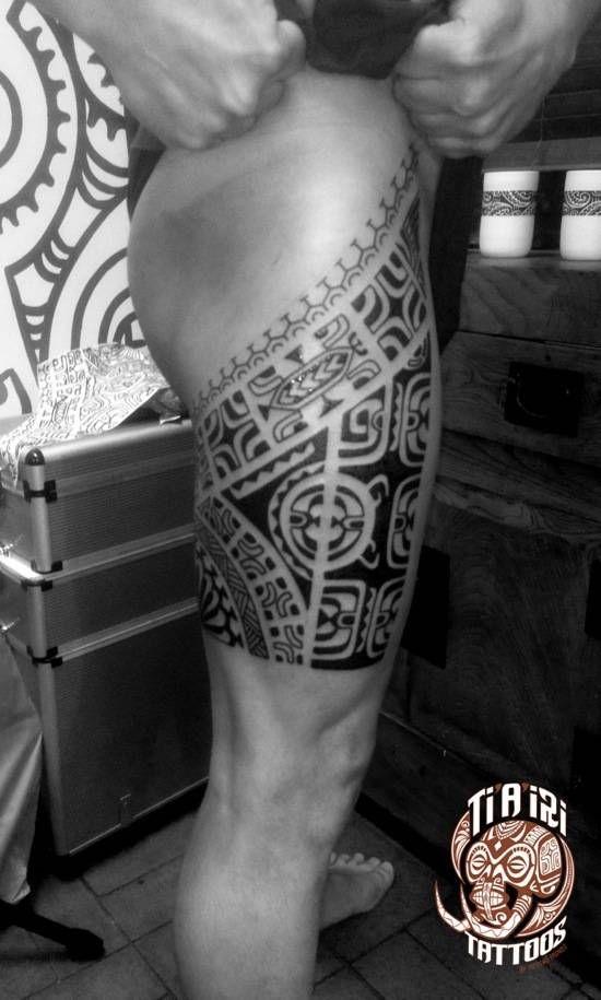 Polynesian Leg Tattoos - Po'oino Yrondi Po'oino Yrondi