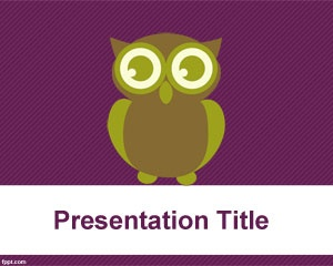 Owl PowerPoint template is a free PowerPoint background template with an owl illustration