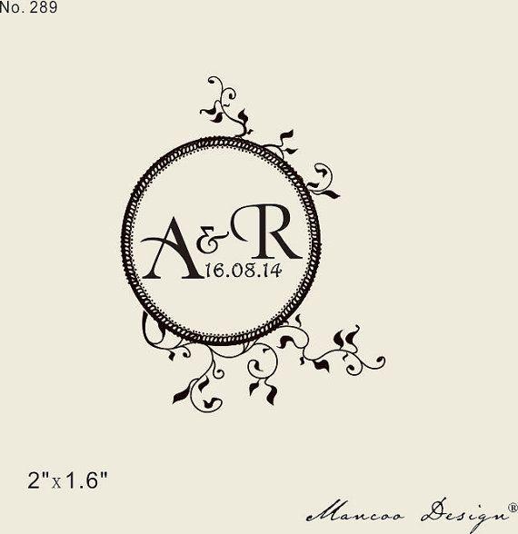 Custom wedding rubber stamp  2 x1.6  by mancoostamp on Etsy