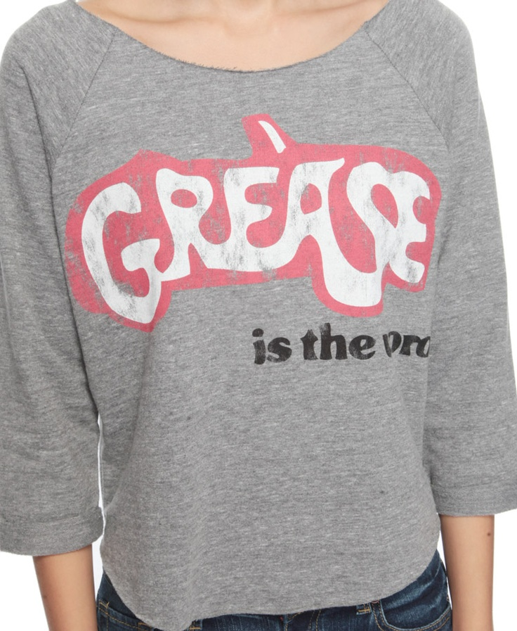 Grease frency t-shirt, it says Grease is the word. Cute!
