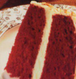 Roter Samt Kuchen -Echt Amerikanisch schmeckt zart wie Samt – Leicht zu backen – Bild eingegeben