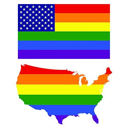 Rainbow American Flag and Rainbow USA Outline - LGBT Sticker and Decal 2 Pack ... https://www.amazon.com/dp/B01NCEB6FG/ref=cm_sw_r_pi_dp_x_Zr3pybZQAQJC0 1 Rainbow American Flag Decal & Bumper Sticker 1 Rainbow USA Outline Flag Decal & Bumper Sticker High Quality and Long Lasting with up to 5 Year Outdoor Life Both Stickers are 5 x 3 inches Vivid color that won't fade!