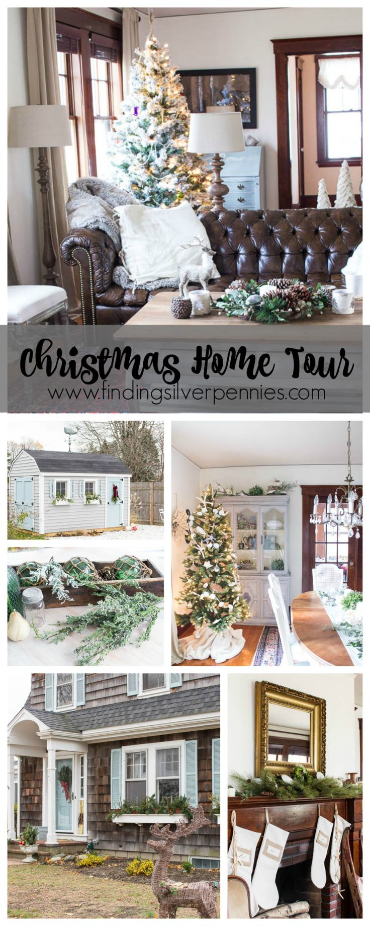743 tags christmas decorations festival holiday christmas tree views - Christmas Home Tour 2015 Finding Silver Pennies