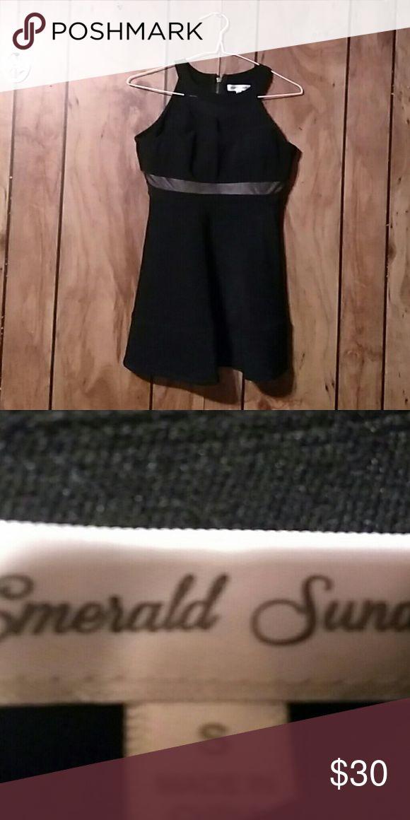 Prom dress All black,classy,short,black prom dress Emerald Sundae Other