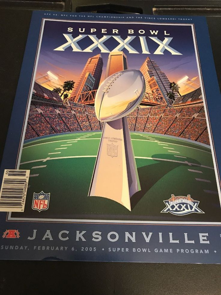 SUPER BOWL XXXIX SB 39 GAME PROGRAM PATRIOTS EAGLES    eBay