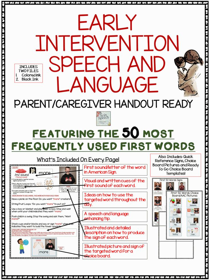 SLP Early Intervention For The First 50 Words Resource