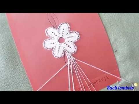 Merletto a tombolo - Progetto Farfalla #3: barrette con filo magico ( fil miracle) - YouTube