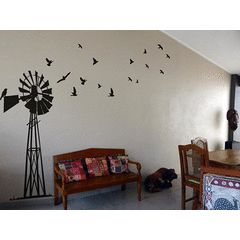 Giant South African Windpump Windpomp Wall Art Sticker Decal Vinyl Interior Decor Decoration for R349.99