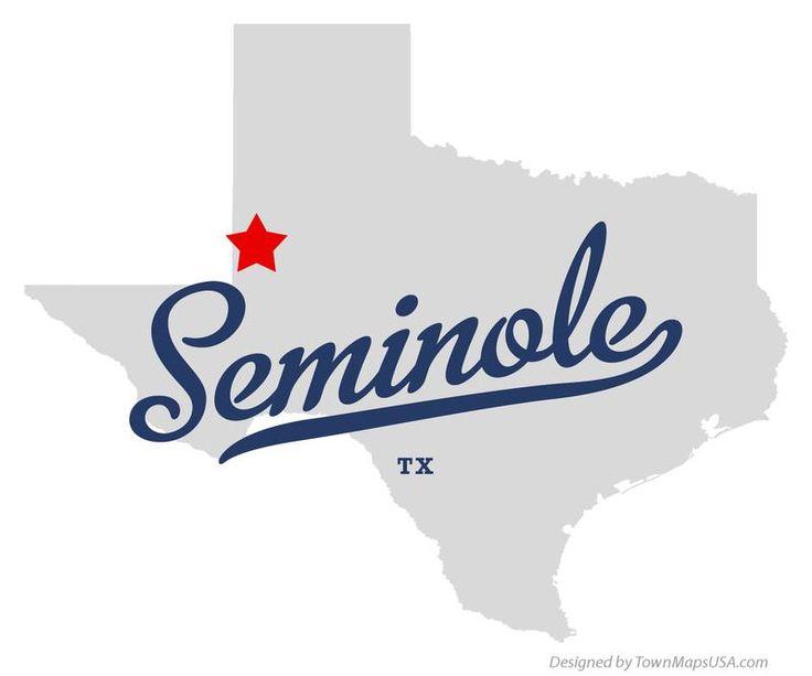 Map of Seminole Texas TX