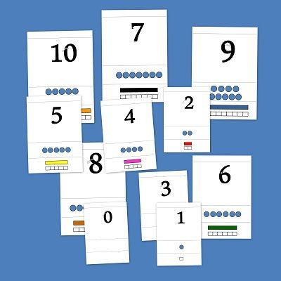 Números y regletas. Fichas de matemáticas para infantil