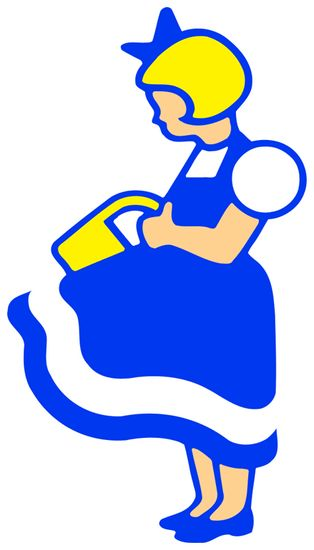 Irma. Irmapigen blev registreret som varemærke i 1943 efter at have været brugt som kendetegn for forretningerne siden 1910. Logoet blev omtegnet i 1975 og 1978 af arkitekt Bent Mackeprang og grafiker Erik Ellegaard Frederiksen.