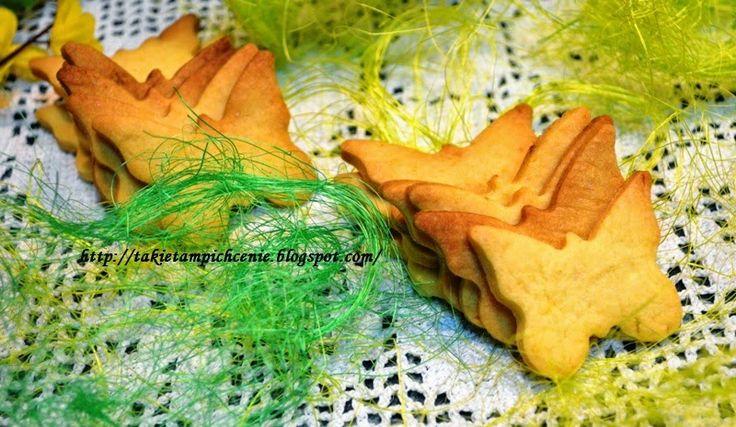 Smak, zapach, kolor...: Ciasteczka kruche -wielkanocne ciasteczka