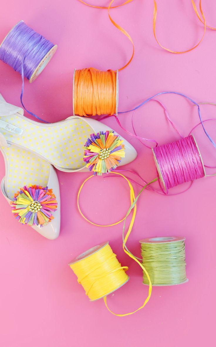 Raffia Shoe clips