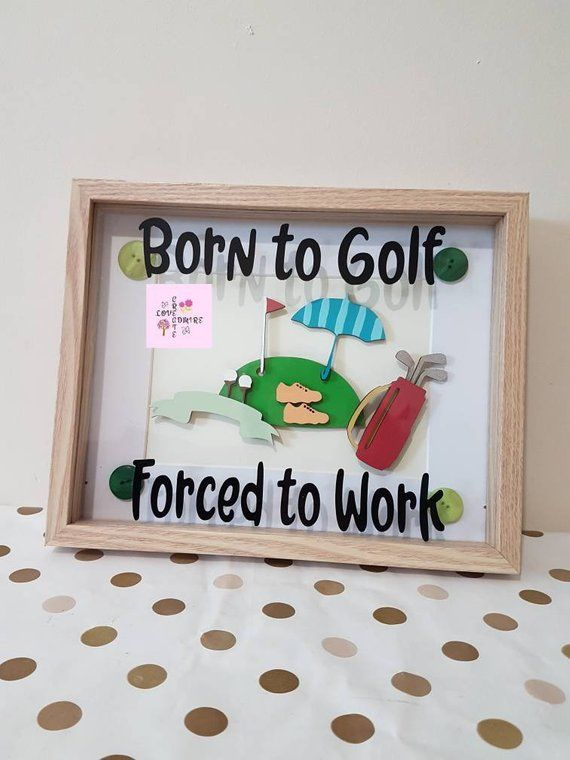 Christmas Gift Dad / Golf Gifts / Golf Lover / Golf Frame / Golf Dad / Fathers Day Gift / Dad Birthday Golf / Gifts for Men / Personalised Golf / Golf…