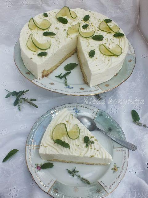 Aleda konyhája: Zöldcitromos torta - liszt és cukormentes