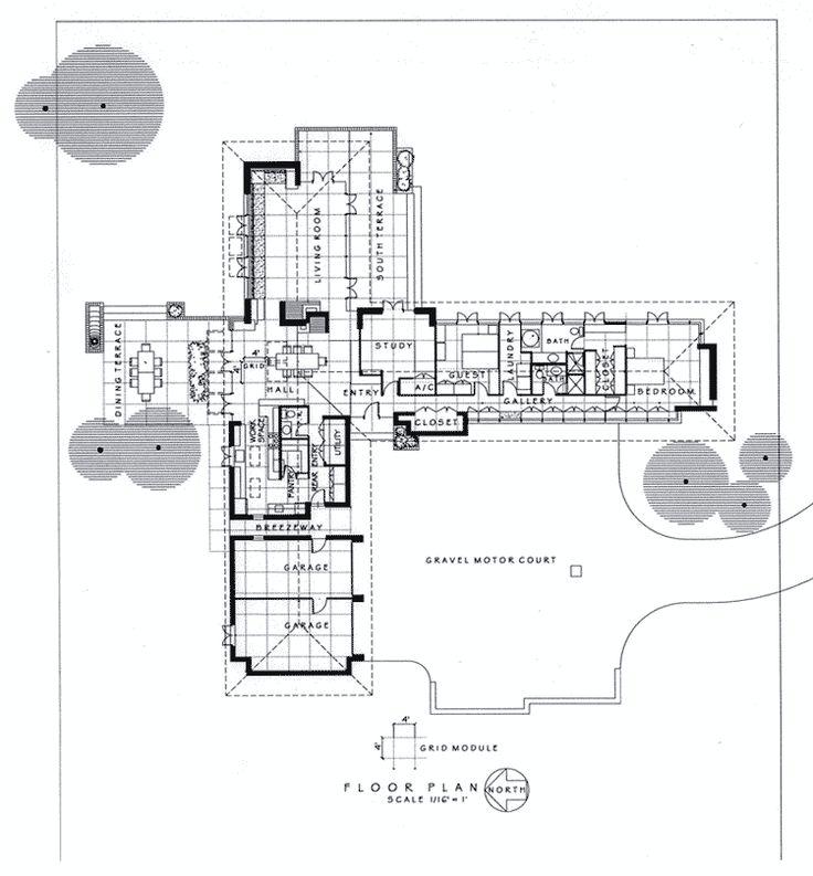 modernized usonian house plans pinterest