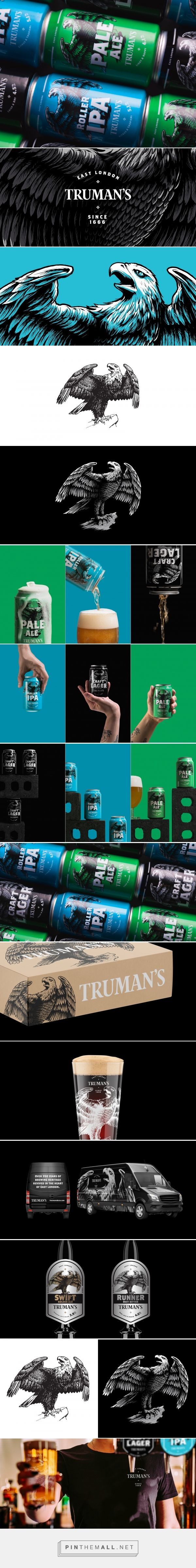 Truman's Brewery - Packaging of the World - Creative Package Design Gallery - http://www.packagingoftheworld.com/2017/11/trumans-brewery.html