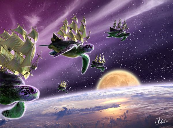 Flying Turtle Ships by VLAC.deviantart.com on @DeviantArt