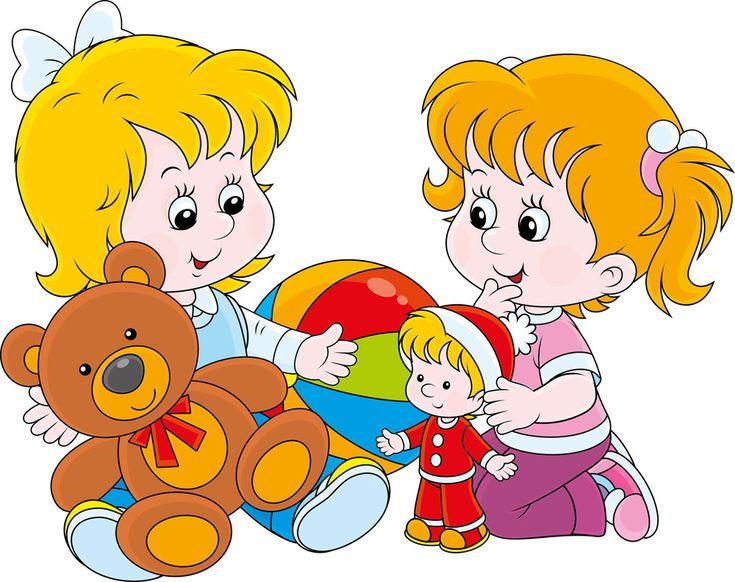 卡通女孩与玩具