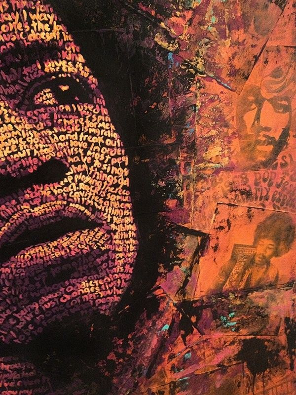 Typography Portrait Series - Jimi Hendrix on Behance