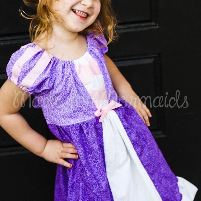 """Made for Mermaids """"Rapunzel Tangled Dress"""" Everyday Princess Collection Sewing PDF Pattern www.madeformermaids.com"""