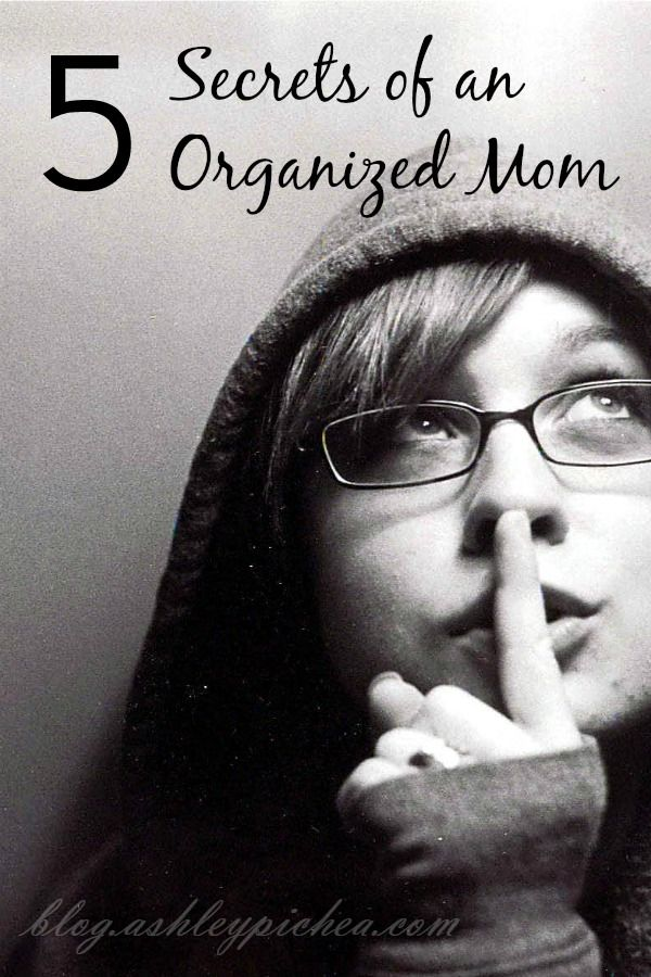 Want to know the secrets to being an ORGANIZED MOM??   CLICK HERE to learn these five secrets...