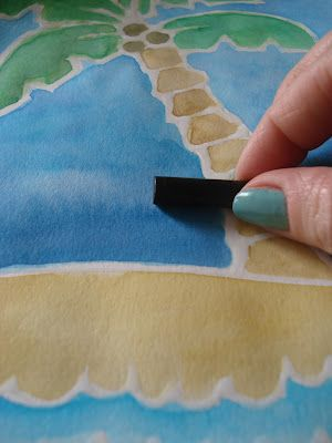 Draw with glue, paint with watercolors, rub with a dark crayon to get a look like batik, but much easier