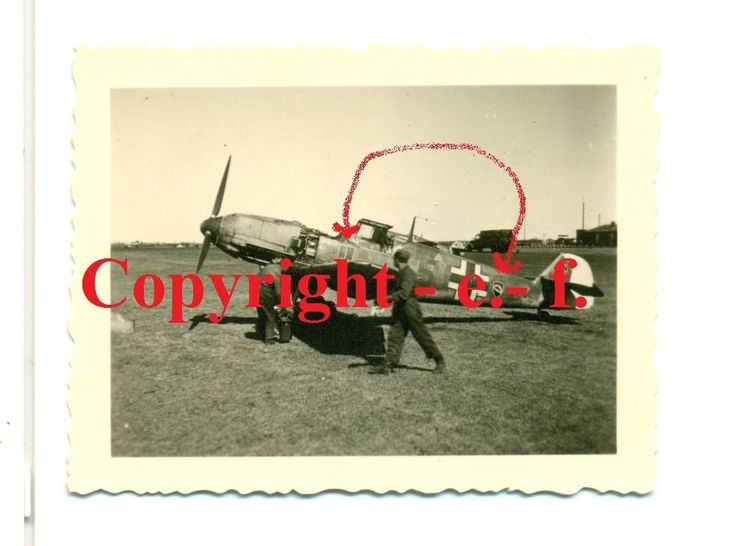 """FOTO - FLUGZEUG """"Me 109"""" - JAGDGESCHWADER 52 - 2 x STAFFELWAPPEN + TARNUNG + """"5"""" in Sammeln & Seltenes, Militaria, 1918-1945   eBay"""