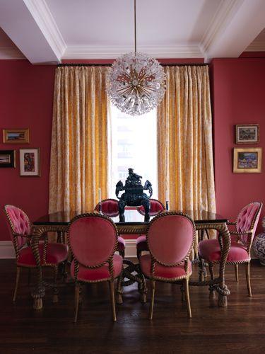 Pink Dining Room By Designer Elizabeth Bauer